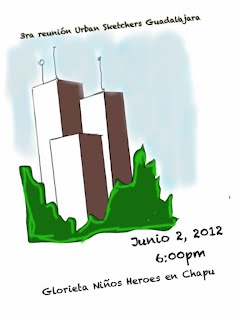 3ra Reunión del grupo Urban Sketchers Guadalajara