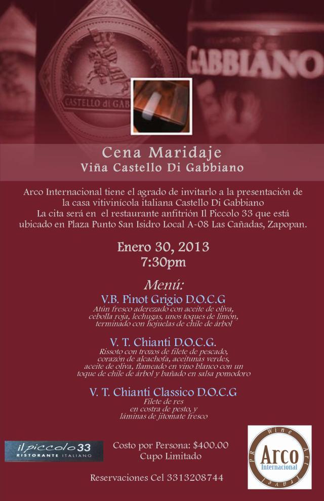 Presentación de Vinos Italianos en Guadalajara